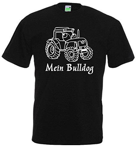 Kinder T-Shirt, Mein Bulldog Schwarz