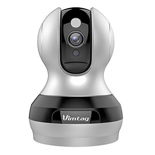 Videocamera  Vimtag® HD con Wi-Fi intelligente - Audio a due vie, Built-in Mic & Altoparlante, Motion Detection e Super visione notturna
