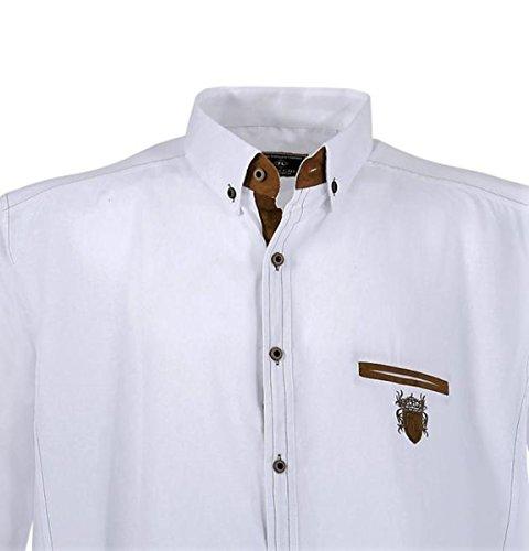 Übergrössen !!! Schickes Herrenhemd LAVECCHIA 1980 2 Farben Weiß