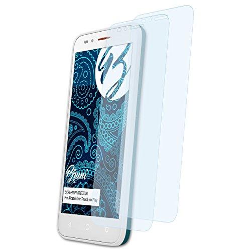 Bruni Schutzfolie kompatibel mit Alcatel One Touch Go Play Folie, glasklare Bildschirmschutzfolie (2X)