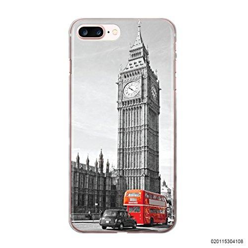 blitzversand Handyhülle Portugal kompatibel für iPhone 7/8 London Parlament Schutz Hülle Case Bumper transparent M16