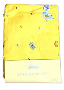 Owen Crib Sheet Fitted (Yellow)
