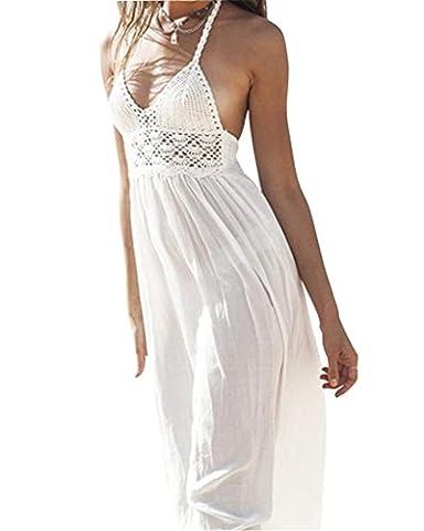 Manteau D Ete Femme Blanc - Minetom Femmes D'été de Robe Blanche en