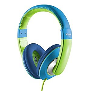 Trust Sonin Kids Headphones, Ear Defenders, Built-In Volume Limitation - Blue/Green