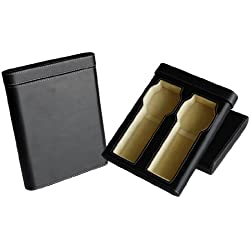 Hochwertige Uhrenbox Woolux Reisebox für 2 Uhren Leder