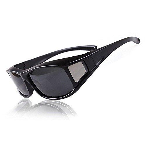 KTYX Kurzsichtige Polarisierte Sonnenbrillen Sonnenbrillen Angeln Reiten Sportbrillen Sonnenbrille (Farbe : Bright Black)