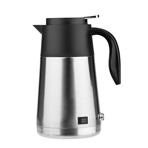 fosa Tragbare 1300 ml Große Kapazität 12/24 V Auto Lkw Wasserkocher Wasser Heizung Flasche für Reise,Tee,Kaffee machen,Campen,Außen Leben usw.(12V) -