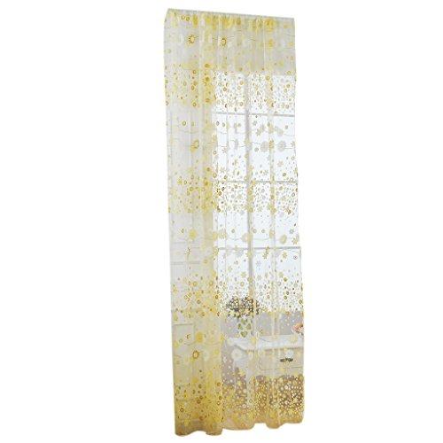 Filato di vetro floreale mantovane pannello della finestra di trattamento tenda pura drappo giallo