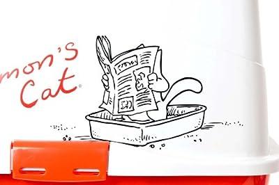 Karlie Simon's Cat Cat Toilet, 49.6 cm x 37.6 cm x 11.3 cm, red-white from Karlie