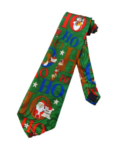 r Santa Claus Ho Ho Ho Weihnachten Elf Krawatte - grün - Einheitsgröße (Santa Anzug Für Verkauf)