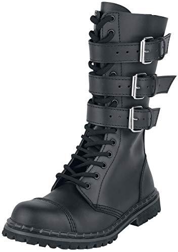 Gothic Stiefel - Brandit Phantom 3-Buckle Boot schwarz