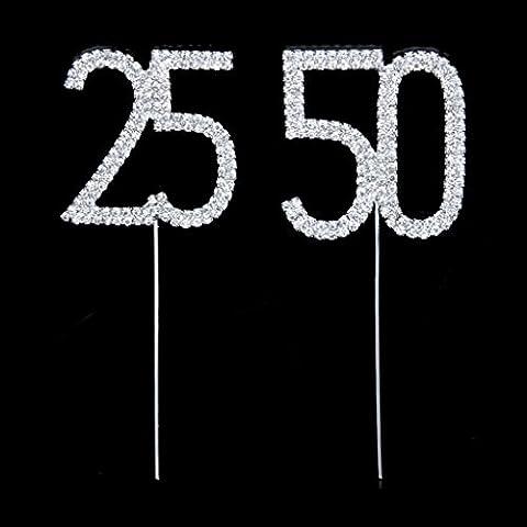 Fengge Gâteau en strass pour la fête d'anniversaire du 50e anniversaire
