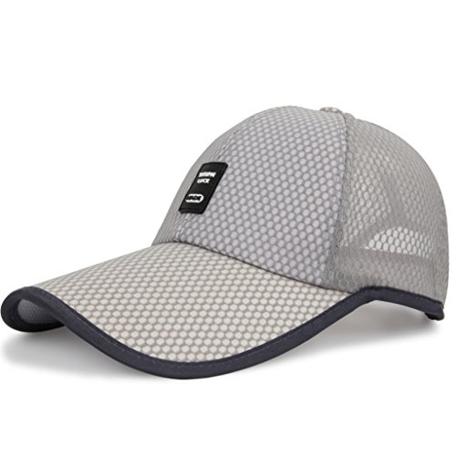 ZDD Outdoor Sports Sonnenhut, Sonnenblende Angeln Net Cap Baseball Cap 6 Farbe (Farbe : Light Grey)