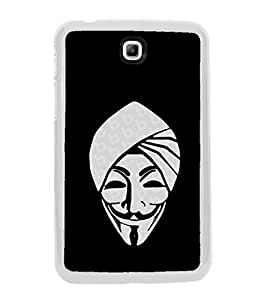 Smiling Cartoon 2D Hard Polycarbonate Designer Back Case Cover for Samsung Galaxy Tab 3 8.0 Wi-Fi T311/T315, Samsung Galaxy Tab 3 8.0 3G, Samsung Galaxy Tab 3 8.0 LTE