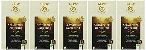GEPA Schwarztee Darjeeling, 5er Pack 5 x 50 g (5 x 25 a 2g) – Bio