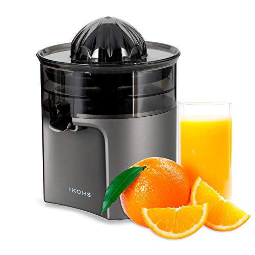 IKOHS Exprimidor Eléctrico de Naranjas y cítricos, 40 W, Apto para lavavajillas, grisfrecuencia 50-60Hz...
