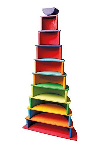 Grimm's Spiel und Holz Design Regenbogen 10 teilig, invertiert - 5