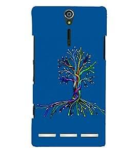 PrintVisa Cute Cartoon Tree 3D Hard Polycarbonate Designer Back Case Cover for Sony Xperia S :: SL LT26I LT26ii