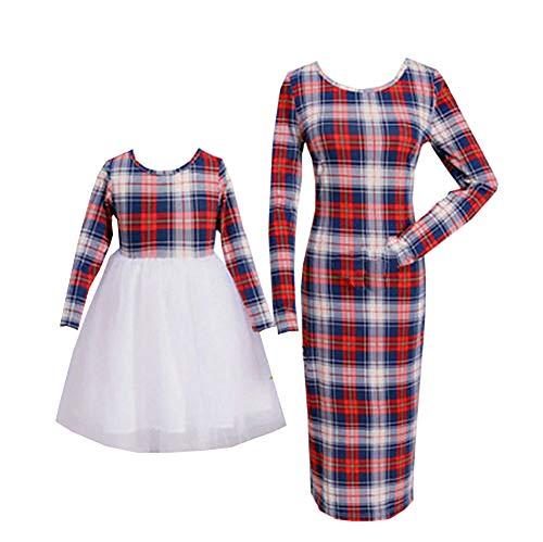 Loalirando Schönes Mutter Tochter Kleider Matching Outfits Christmas Patnerlook Kleid Spitzen Prinzessin Kleid (XL, ()