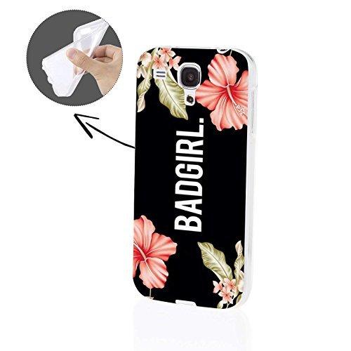 FINOO   Samsung Galaxy S3 Mini Weiche flexible Silikon-Handy-Hülle   Transparente TPU Cover Schale mit Motiv Muster   Tasche Case mit Ultra Slim Rundum-schutz   stoßfestes dünnes Bumper Etui   Badgirl