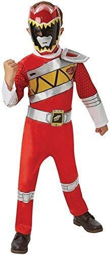 Kinder Jungen Mädchen Rot Rosa Blau Power Ranger Superheld Halloween Büchertag Woche Kostüm Kleid Outfit - Rot, 7-8 (Kostüme Offiziell Lizenzierte)