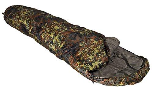 Extra warmer Camping Outdoor Mumien Schlafsack in verschiedenen Farben (Flecktarn)