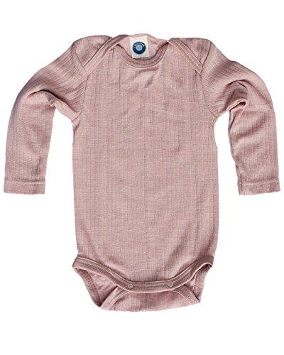 Cosilana, Baby Body Langarm, KBA Baumwolle, kbT Wolle, Seide (98/104, Pink meliert) - Unterwäsche Langarm