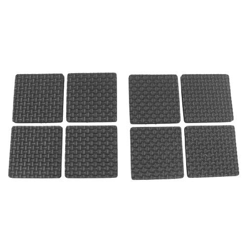 sourcingmap® 8 Stück Selbstklebende schwarze Schaumstoff Tisch Stuhl Bein-Auflage-Schutz de