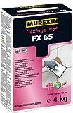Murexin Flexfuge Profi FX65, 4 Kg, 5 Farben, Fugenmasse, Fugenmörtel (Seidengrau)