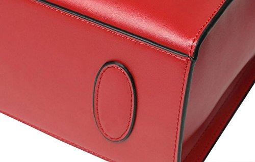 La Signora Semplice Borsa In Pelle Di Grande Capacità Dimensioni 33 * 13 * 29 Centimetri Khaki