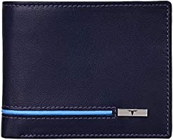 Urban Forest Stag RFID Blocking Blueberry/Blue Leather Wallet for Men