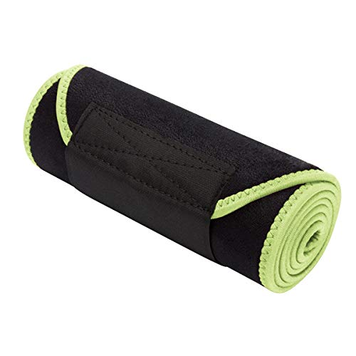 SH-RuiDu Direct Store Fitness Gürtel verstellbare Farbe warmen Gürtel Sport Gürtel Taille atmungsaktiv Schweiß Körper Taille (Color : Green, Size : M)