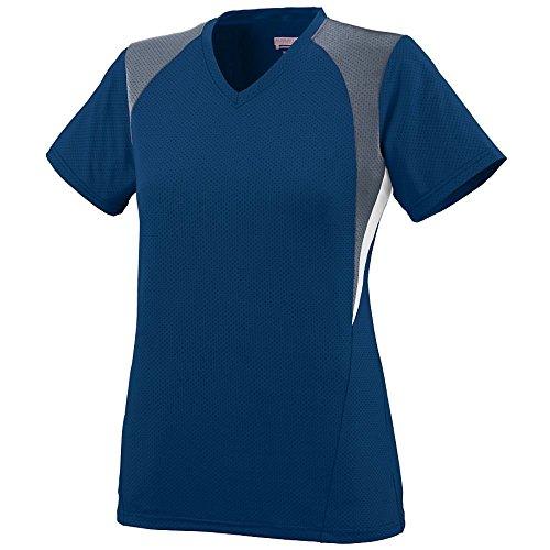 Augusta - T-shirt de sport - Femme Multicolore - Navy/Graphite/White