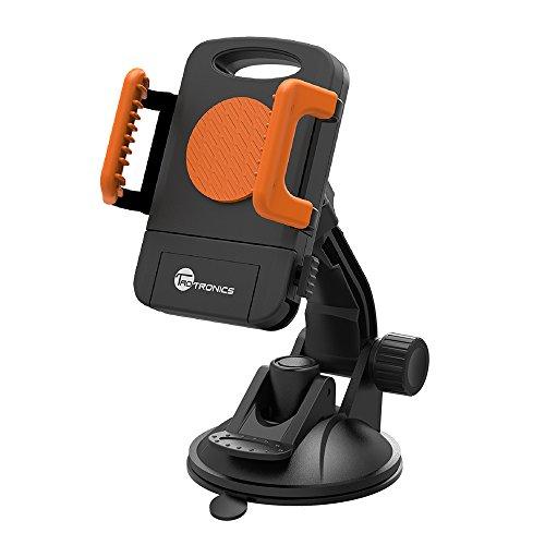 TaoTronics TT-SH08R DE Universal Auto Handyhalterung (geeignet für Handys mit der Breite von 5,1 cm bis 9,2 cm), Orange -