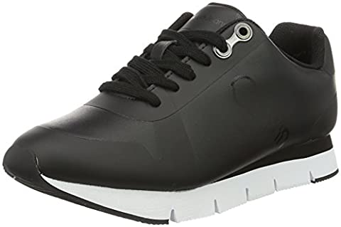 Calvin Klein Jeans Taline Rub Smooth/Hf, Sneakers Basses Femme, Noir (Black/Black), 38 EU