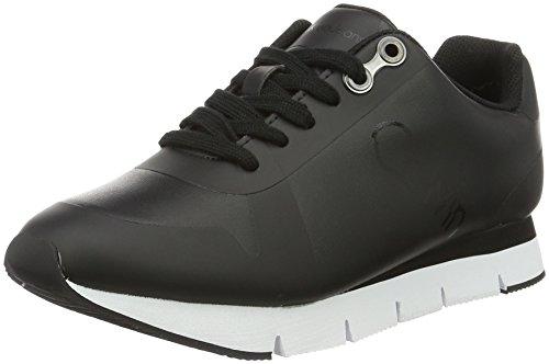 Calvin Klein Jeans Damen Taline Rub Smooth/Hf Sneakers Schwarz (Bbk)