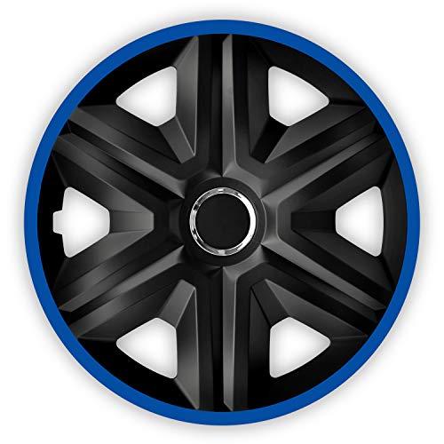 NRM Fast Lux 4X Copricerchi universali per Auto, 4 Pezz blu 14 '4 Pezzi Danno Al Veicolo Un Aspetto S