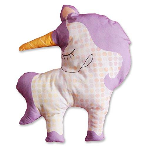 Lilafaitdesbulles - Doudou licorne - Coudre en tissu bio - Set de couture complet - Jeu de loisir créatif pour enfant à partir de 8 ans (Disco la licorne)