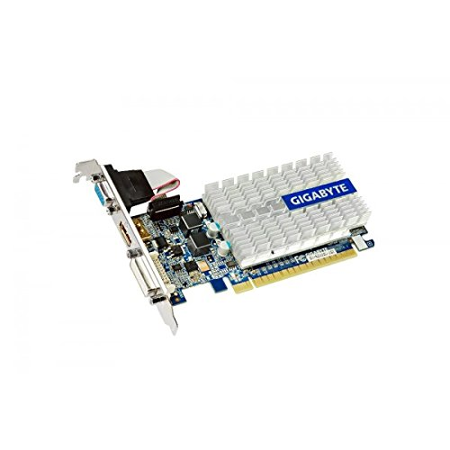 Gigabyte GeForce GT210 - Tarjeta gráfica PCIe (1 GB DDR3-SDRAM, 520 MHz, VGA, DVI, HDMI)