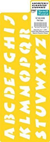 stencil-stencil-mania-3-x-8-1-2-grassi-cappelli-con-3-4