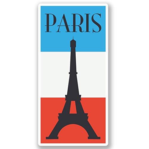 2 x 20cm/200mm Paris Frankreich Vinyl SELBSTKLEBENDE STICKER Aufkleber Laptop reisen Gepäckwagen iPad Zeichen Spaß #4353 (Notebook 4353)