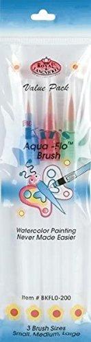 Royal Brush Big Kid's Choice Aqua-Flo Brush Set, 3-Pack by ROYAL BRUSH -