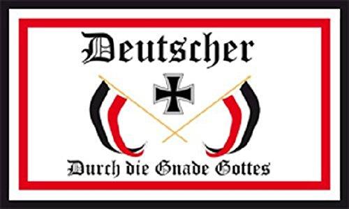 U24 Fahne Flagge Deutscher Gnade Gottes Deutschland Deutsches Reich 150 x 250 cm