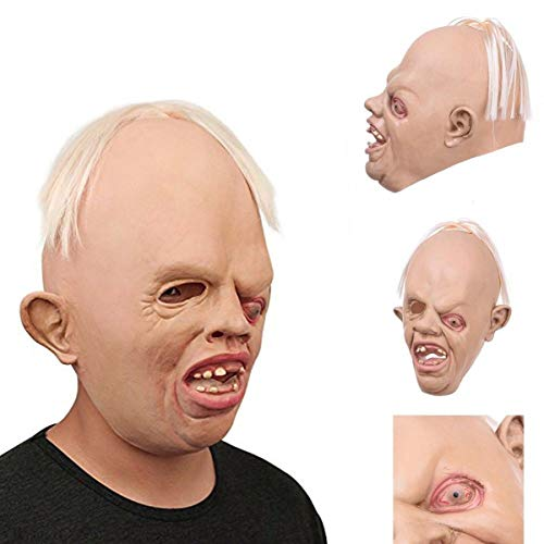 unbrand Halloween Augenmasken Faultier Latex Maske Deluxe Goonies -