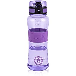 Ion8 Leak Proof Gym, Yoga & Sports Water Bottle, BPA Free 550ml / 20oz, Purple