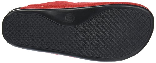 Manitu 320367, Chaussons femme Rouge - Rouge