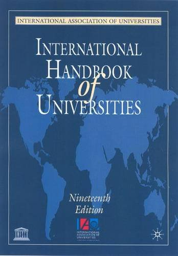 International Handbook of Universities por International Association of Universities