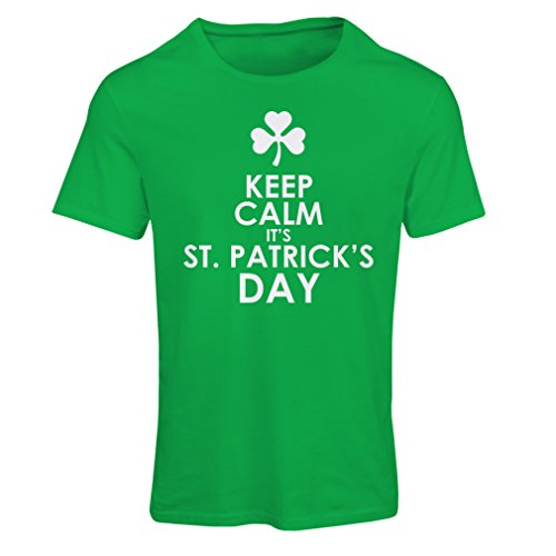 Frauen T-Shirt Keep Calm it's St Patrick day (X-Large Grün Mehrfarben)