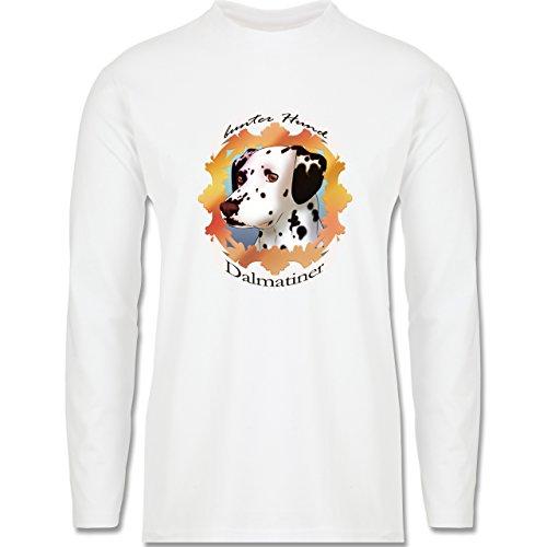 Hunde - Dalmatiner - bunter Hund - Longsleeve / langärmeliges T-Shirt für Herren Weiß