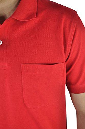 KITARO - Herren Poloshirt in verschiedenen Farben (68800) True Red (404)